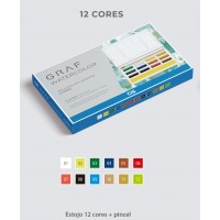 Aquarela Cis Graf Watercolor 12 cores