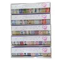 Washi Tape estampados com 10 unidades