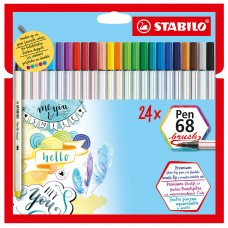 Caneta Stabilo Brush Pen 68  C/24