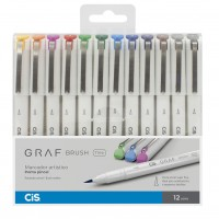 Caneta Cis Graf Brush Fine 12